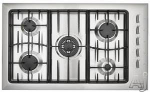 """Fisher Electronics - Fisher Paykel GC912SS 36"""" Sealed Burner Gas Cooktop With Rapid Burner And Electronic Auto Re-Ignition"""