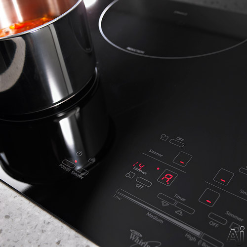 Induction Cooking Temperature Settings ~ Whirlpool gci xb quot induction cooktop with cooking