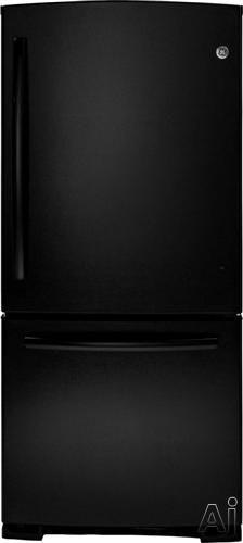 GE GDE20ETEBB 20.2 cu. ft. Bottom-Freezer Refrigerator with 3 Adjustable Glass Shelves, Factory, U.S. & Canada GDE20ETEBB