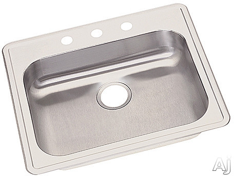 "Elkay Dayton Collection GE12521R5 25"" Drop-In Stainless Steel Sink with 5 3 / 8"" Bowl Depth, U.S. & Canada GE12521R5"