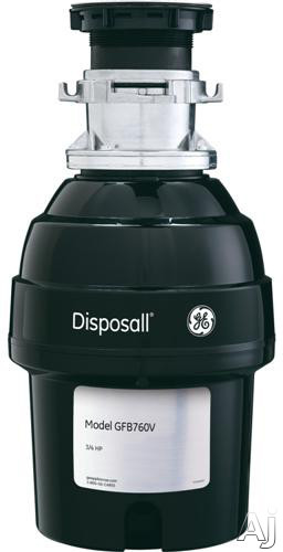 GE GFB760V 3 4 HP Batch Feed Waste Disposer with 2 700 RPM Manual Reset Overload Protector 2 Level Precutter Jam Resistant and Direct Wire