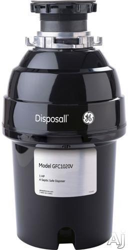 GE GFC1020V 1 HP Continuous Feed Waste Disposer with 3 500 RPM Manual Reset Overload Protector 2 Level Precutter Jam Resistant and Direct Wire
