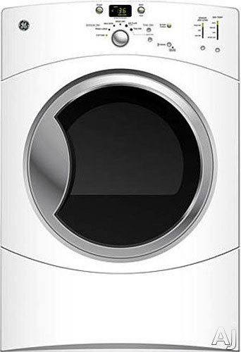 "GE GFDN110EDWW 27"" Front-Load Electric Dryer with 7.0 cu. ft. Capacity, 6 Dry Cycles, HE SensorDry, U.S. & Canada GFDN110EDWW"