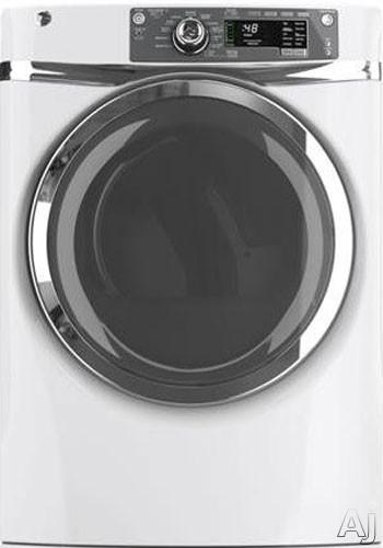 "GE GFDR480GFWW 28"" Gas Dryer with 8.3 cu. ft. Capacity, 12 Dry Cycles, Built-In Riser, Detangle, U.S. & Canada GFDR480GFWW"