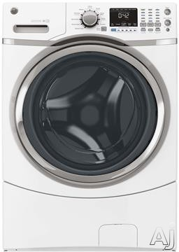 Picture of 27 Inch 4.3 cu. ft. Front Load Washer with 10 Wash CyclesLaundry day is a breeze with this front load washer by GE. With 4.3 cu. ft. of capacity, you'll be able to wash large items such as comforters, blankets, and jackets. Select among 10 wash cycles, 3 settings, 5 temperatures, and 5 spin speeds to achieve the perfect clean. Use the extended tumble feature to freshly tumble your garments periodi
