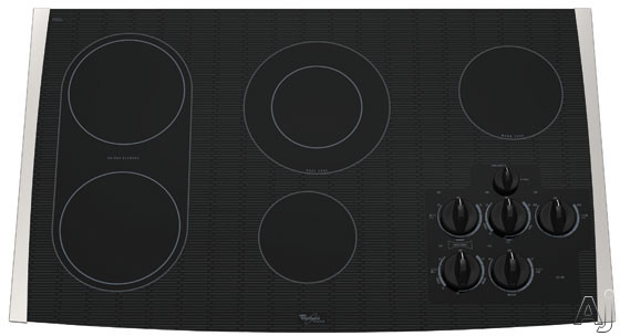 "Whirlpool Gold GJC3634R 36"" Smoothtop Electric Cooktop With Ceramic Bridge Element Cooktop & 5th Warm Zone Element"