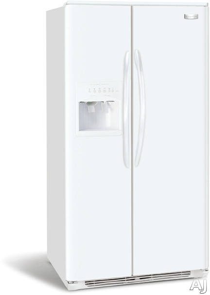 Frigidaire Gallery Series GLHS68EJPB 26.0 Cu Ft Side-by-Side Refrigerator With 3 Glass Shelves Gallon Door Storage 2 Humidity Controls And External 6 Button
