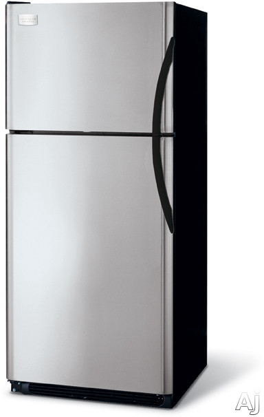 Frigidaire Gallery Series GLHT217JK 20.6 Cu Ft Top-Freezer Refrigerator With 4 Half-Width Cantilever SpillSafe Shelves 2 Clear Humidity Crispers And Tilt-Out
