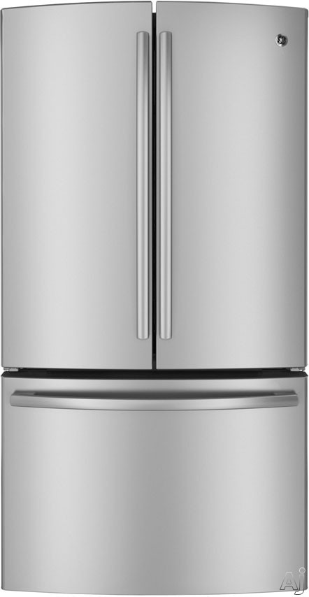 GE GNE26GGD 26.3 cu. ft. French Door Refrigerator with Spill Proof Glass Shelves, U.S. & Canada GNE26GGD