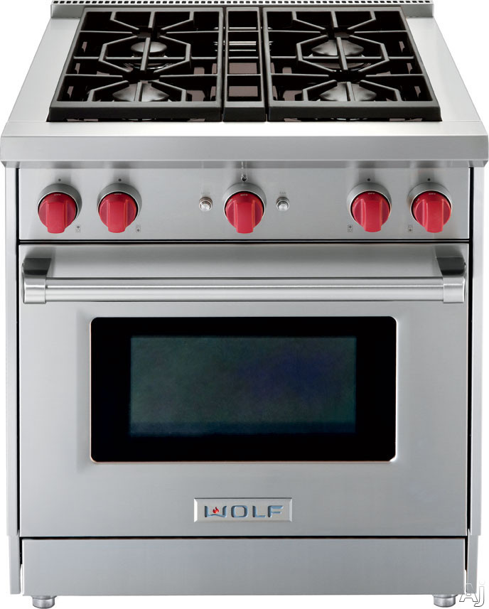 "Wolf GR304 30"" Pro-Style Gas Range with 4 Dual-Stacked ..."