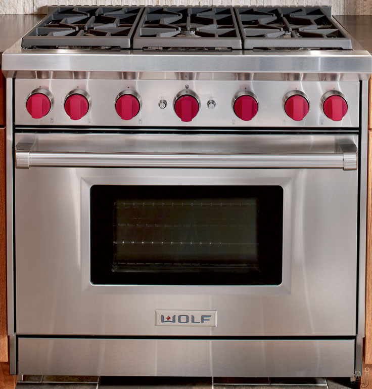Wolf Gr366lp 36 Quot Pro Style Gas Range With 6 Dual Stacked