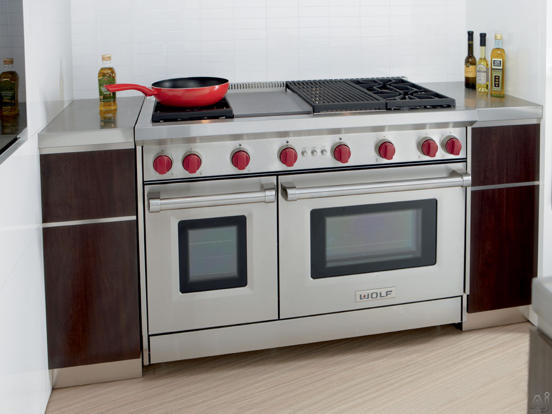 Wolf Gr484cg 48 Quot Pro Style Gas Range With 4 Dual Stacked