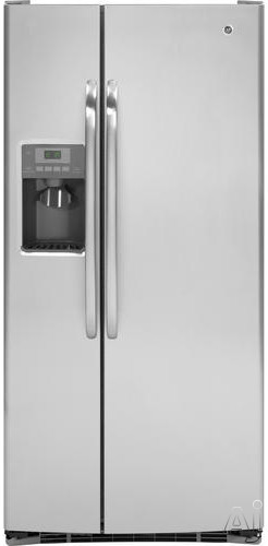 GE GSHF3KGZ 23.1 cu. ft. Side by Side Refrigerator with Adjustable Spill Proof Glass Shelves, U.S. & Canada GSHF3KGZ