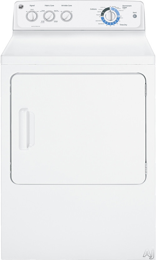 """GE GTDL210GDWW 27"""" Gas Dryer with 7.0 cu. ft. Capacity, 9 Dry Cycles, 4 Heat Selections, Auto Dry, U.S. & Canada GTDL210GDWW"""