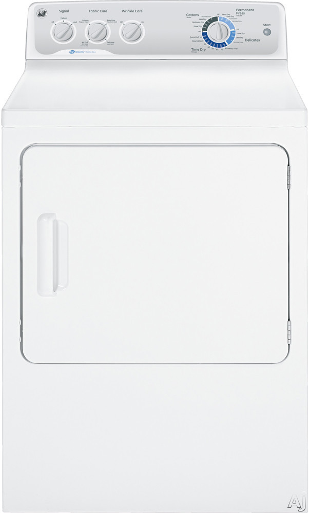 """GE GTDP490GDWS 27"""" Gas Dryer with 7.0 cu. ft. Capacity, 13 Dry Cycles, Delicate Cycle, Air Fluff No, U.S. & Canada GTDP490GDWS"""