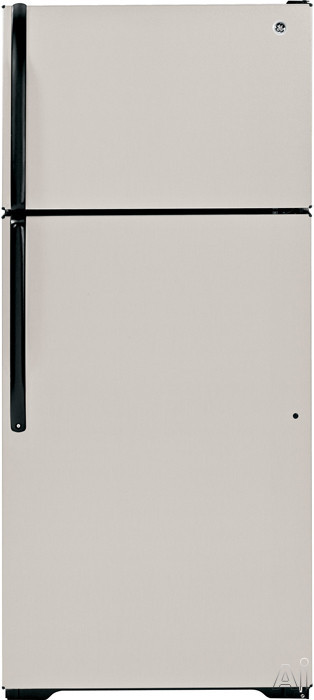 GE GTJ18GCDSA 18.1 cu. ft. Top Mount Refrigerator with Spill-Resistant Glass Shelves, Upfront, U.S. & Canada GTJ18GCDSA