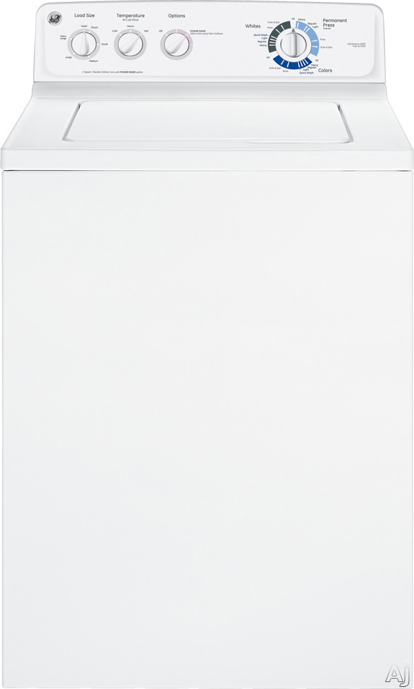 """GE GTWN2800DWW 27"""" Top-Load Washer with 3.9 cu. ft. Capacity, 13 Wash Cycles, Quick Wash Cycle, 3, U.S. & Canada GTWN2800DWW"""