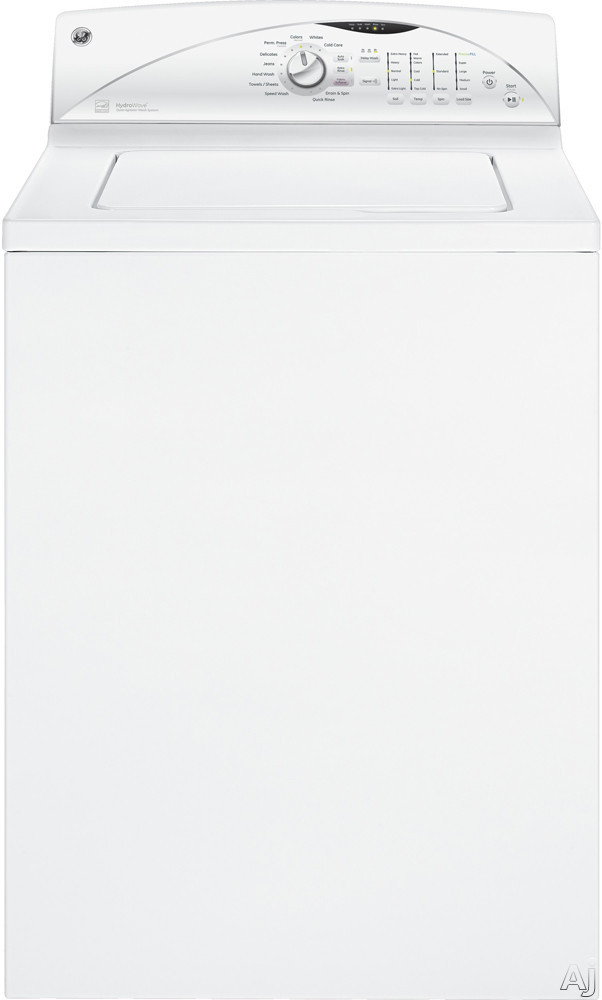 """GE GTWN5250DWW 27"""" Top-Load Washer with 3.9 cu. ft. Capacity, 10 Wash Cycles, Speed Wash Cycle, Cold, U.S. & Canada GTWN5250DWW"""