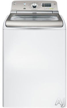 """GE GTWN8250DWS 28"""" Top-Load Washer with 4.8 cu. ft. Capacity, 15 Wash Cycles, 6 Wash Temperatures, U.S. & Canada GTWN8250DWS"""