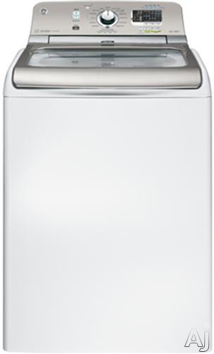 """GE GTWS8450DWS 28"""" Top-Load Washer with 4.8 cu. ft. Capacity, 16 Wash Cycles, Speed Wash Cycle, U.S. & Canada GTWS8450DWS"""