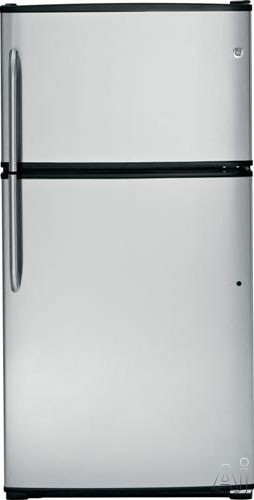 GE GTH21GCE 21 cu. ft. Top Freezer Refrigerator with Adjustable Spill Resistant Glass Shelves, U.S. & Canada GTH21GCE