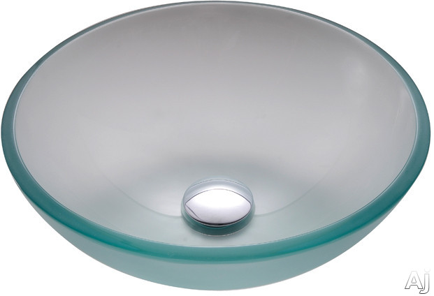 """Kraus Frosted Series GV101FR14ORB 14"""" Frosted Glass Vessel Sink with 5 1 / 2"""" Bowl Depth, 12mm Glass, U.S. & Canada GV101FR14ORB"""
