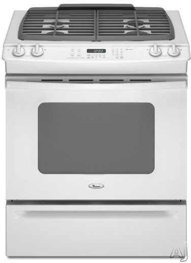 "Whirlpool Gold GW397LXUQ 30"" Slide-in Gas Range with 4 Sealed Burners, Porcelain Cooktop Surface, U.S. & Canada GW397LXUQ"