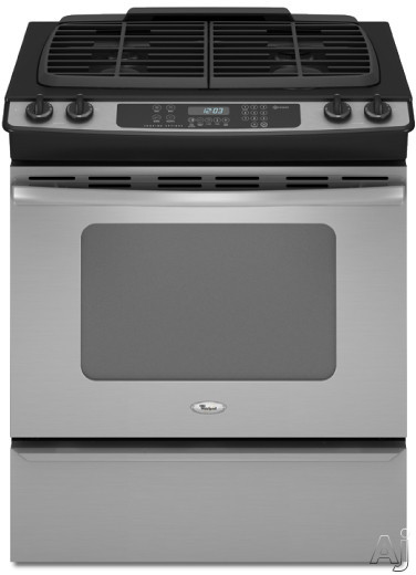 "Whirlpool Gold GW397LXUS 30"" Slide-in Gas Range with 4 Sealed Burners, Porcelain Cooktop Surface, U.S. & Canada GW397LXUS"