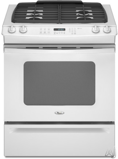 "Whirlpool Gold GW399LXUQ 30"" Slide-in Gas Range with 4 Sealed Burners, Porcelain Cooktop Surface, U.S. & Canada GW399LXUQ"