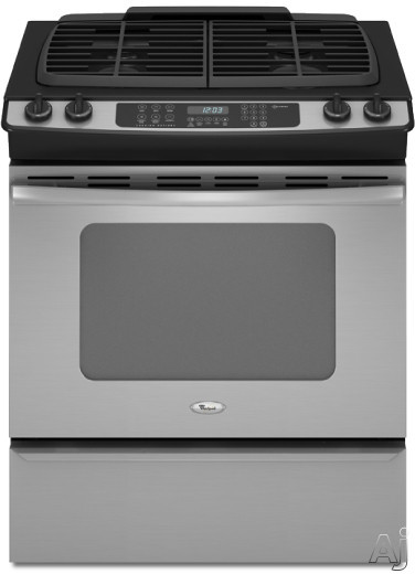 "Whirlpool Gold GW399LXUS 30"" Slide-in Gas Range with 4 Sealed Burners, Porcelain Cooktop Surface, U.S. & Canada GW399LXUS"