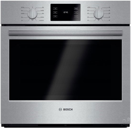 """Bosch - 500 Series 30"""" Built-In Single Electric Convection Wall Oven - Stainless Steel HBL5451UC"""