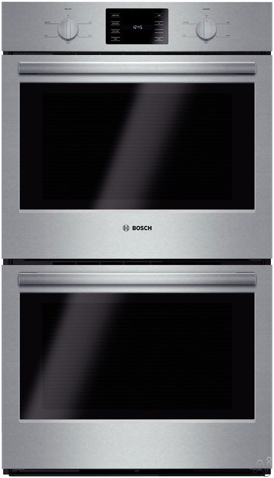 Bosch 500 Series Hbl5551uc 30 Inch Double Electric Wall Oven With 9.2 Total Cu. Ft. Capacity, 4.6 Cu. Ft. Thermal Ovens, Ecoclean 2-hour Self-clean, Bread Proofing, Kitchen Timer And Heavy-duty Metal Knobs