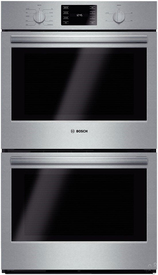 Bosch 500 Series Hbl5651uc 30 Inch Double Electric Wall Oven With 4.6 Cu. Ft. European Convection Upper Oven, Ecoclean Self-clean, 13 Specialized Cooking Modes, Temperature Conversion, Bread Proofing And Star-k Certified