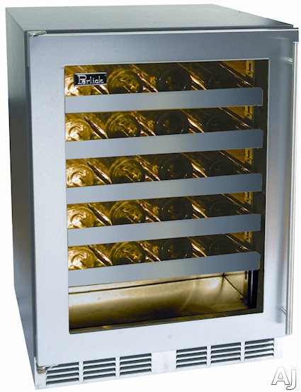 "Perlick C-Series HC24WB4L 24"" Built-in Wine Reserve with 48 Bottle Capacity, Removable Shelves, U.S. & Canada HC24WB4L"