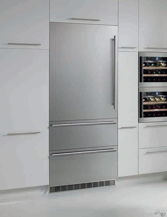 "Liebherr Premium Plus Series HCB1561 30"" Fully Integrated Bottom-Freezer Refrigerator with Glass, U.S. & Canada HCB1561"