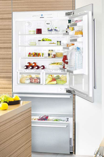 Liebherr Premium Plus Series HCB2060 36 Inch Fully Integrated Bottom-Freezer Refrigerator with 18.8 cu. ft. Capacity, Adjustable Glass Shelves, Gallon Door Storage, BioFresh Drawers, Water and Air Filtration and LED Light Column, Requires Door Panel: Rig