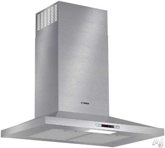 Bosch 300 Series HCP30E51UC 30 Inch Wall Mount Chimney Range Hood with 300 CFM Internal Blower, 3-Speed Touch Controls, Heat Sensor, Built-in Timer, Fluorescent Light and Non-Ducted Option