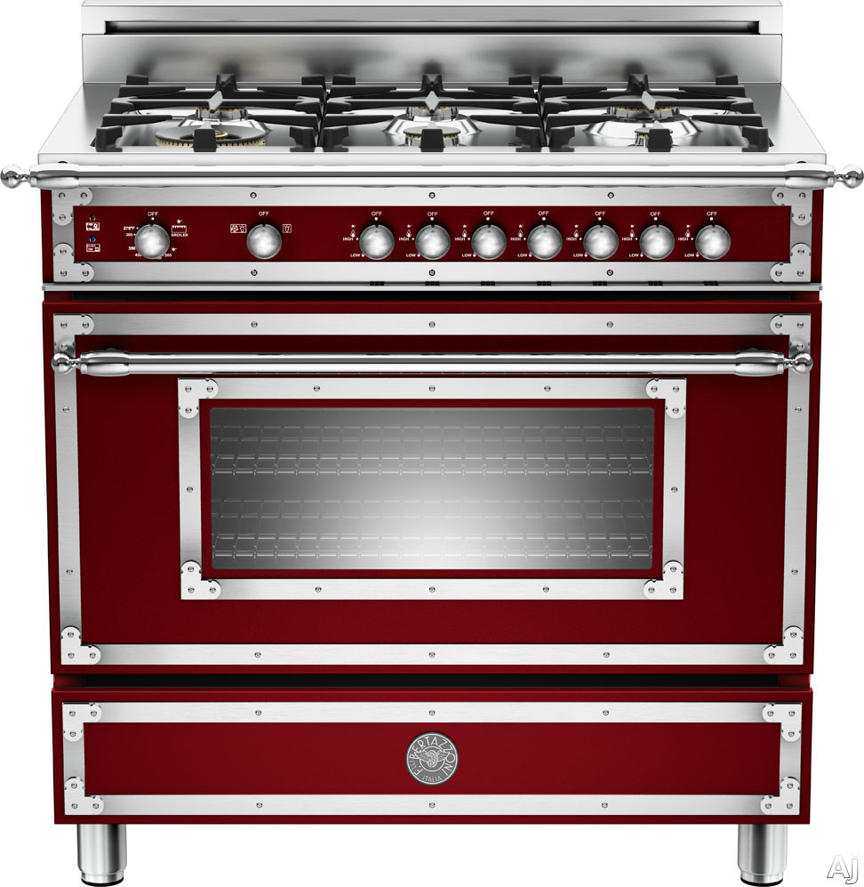 Bertazzoni HER366GAS 36 Traditional Style Gas Range With