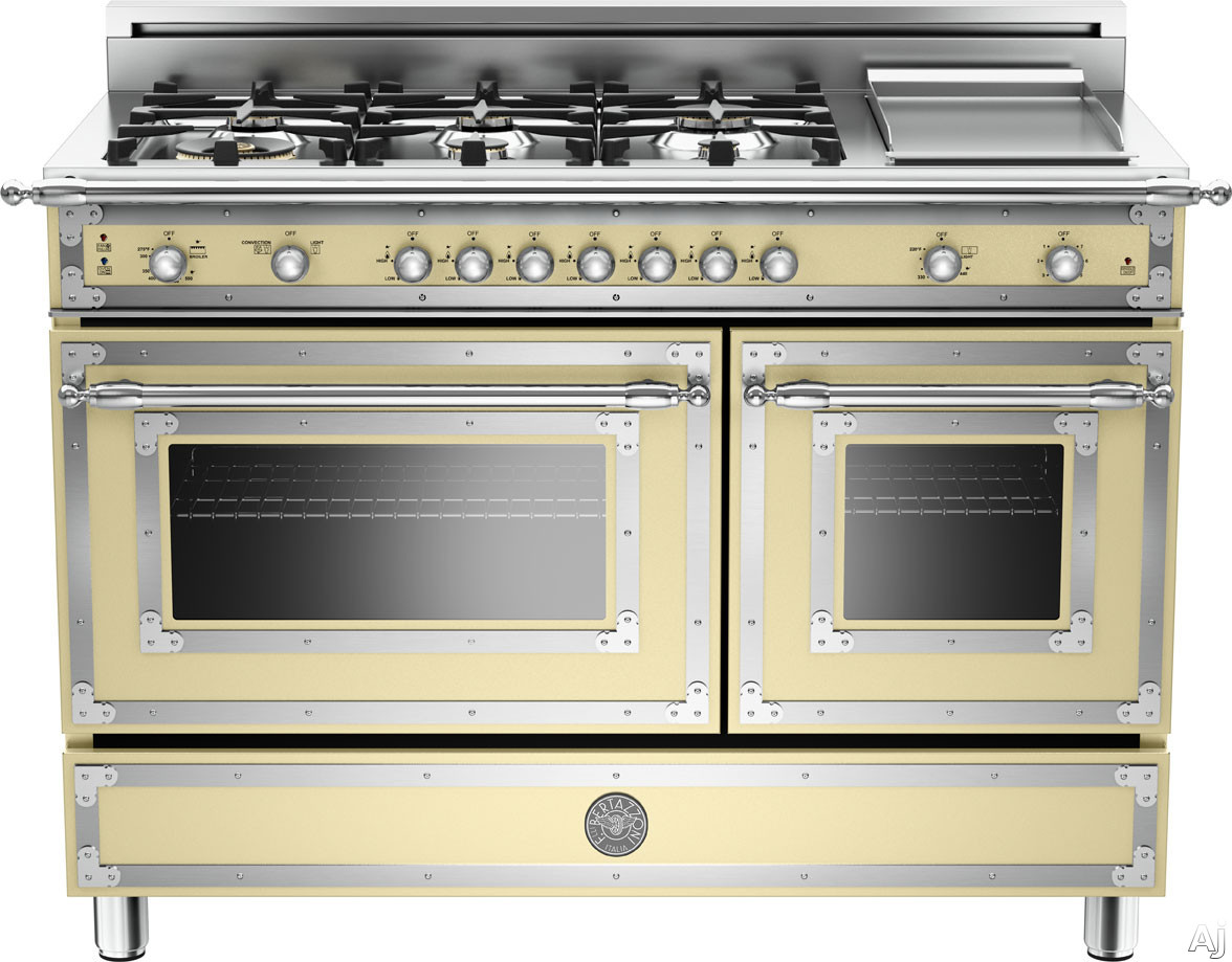 Bertazzoni Her486ggas 48 Quot Traditional Style Gas Range With