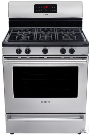 """Bosch 500 Series HGS5053UC 30"""" Freestanding Gas Range with 5 Sealed Burners, 5 cu. ft. Convection, U.S. & Canada HGS5053UC"""