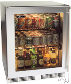 """Perlick HH24RS1R 24"""" Undercounter Compact Refrigerator with Two Full-Extension Wire Shelves, U.S. & Canada HH24RS1R"""