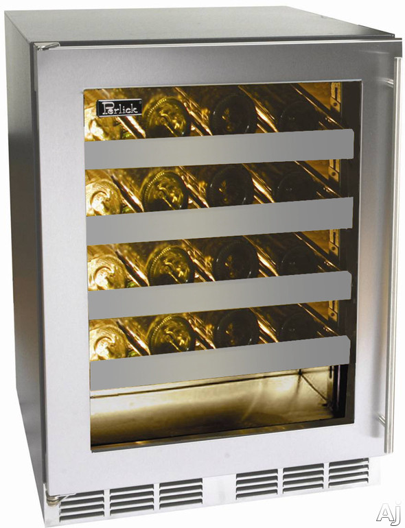 "Perlick HH24WS 24"" Undercounter Compact Wine Reserve with 20-Bottle Capacity, Four Wine Shelves, U.S. & Canada HH24WS"