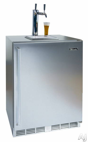 Solid Stainless Steel Door with Dual Faucet Towers