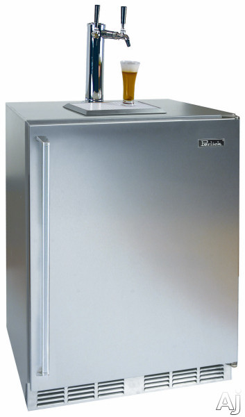 Shown with Solid Stainless Steel Door with Right Hinge and Dual Faucet Tower