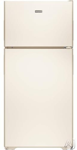 Hotpoint HPS15BTHRCC 28 Inch Top-Freezer Refrigerator with 3 Fresh Food Shelves, Dairy Compartment, Reversible Hinges, Gallon Door Storage, ADA Compliant and Never Clean Condenser: Bisque, Right Hinge Door Swing