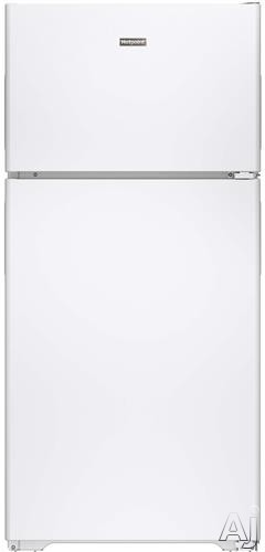 Hotpoint HPS15BTHRWW 28 Inch Top-Freezer Refrigerator with 3 Fresh Food Shelves, Dairy Compartment, Reversible Hinges, Gallon Door Storage, ADA Compliant and Never Clean Condenser: White, Right Hinge Door Swing
