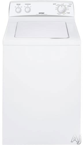 """Hotpoint HSWP1000MWW 27"""" Top-Load Washer with 3.5 cu. ft. Capacity, 8 Wash Cycles, 3 Wash / Rinse, U.S. & Canada HSWP1000MWW"""