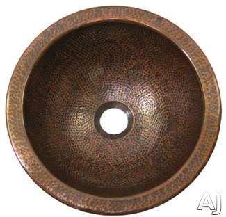 "Houzer The Hammerwerks Collection HWBAB1RF 12"" Undermount Single Bowl Petite Round Lavatory Sink, U.S. & Canada HWBAB1RF"