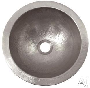 "Houzer The Hammerwerks Collection HWBAB2RF 12"" Undermount Single Bowl Petite Round Lavatory Sink, U.S. & Canada HWBAB2RF"