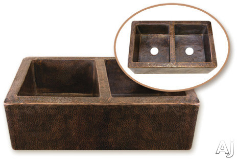 "Houzer The Hammerwerks Collection HWCOP12 32"" Undermount Double Bowl Kuchen Farmhouse Sink with 10"", U.S. & Canada HWCOP12"